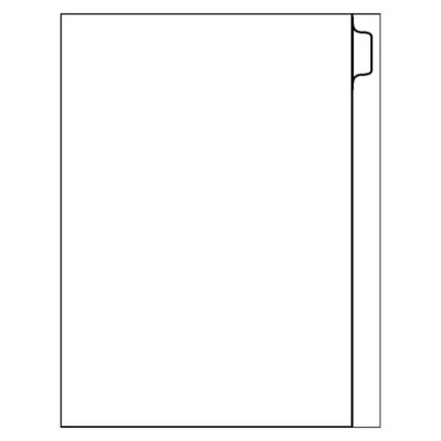 Direct Print Custom Dividers - 8 tab - Portrait