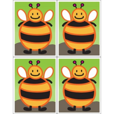 Cupcake Craft Bumble Bee Postcard, 4 per sheet