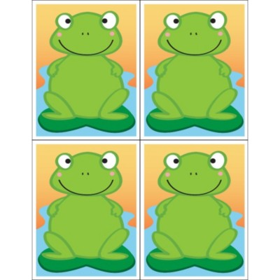 Cupcake Craft Frog Postcard, 4 per sheet