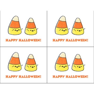 Halloween Candy Corn Postcard , 4 per sheet