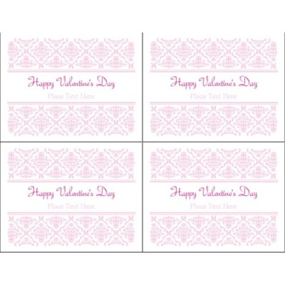 Valentine's Day Toile Design Postcard, 4 per sheet
