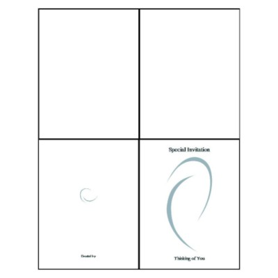 Ellipse Quarter-Fold Greeting Card
