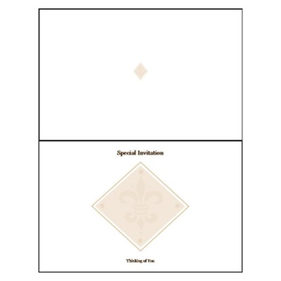Beige Design Half-Fold Greeting Card - Wide