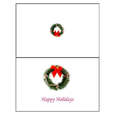Christmas Wreath Half-Fold Greeting Card