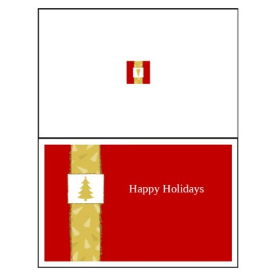 Christmas Tree Half-Fold Greeting Card