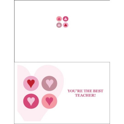 Valentine Hearts Half-Fold Card - Wide