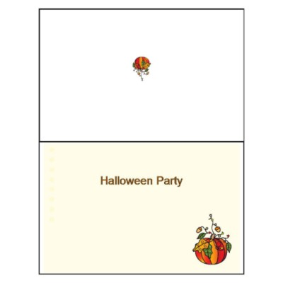 Halloween Half-Fold Greeting Card - Wide