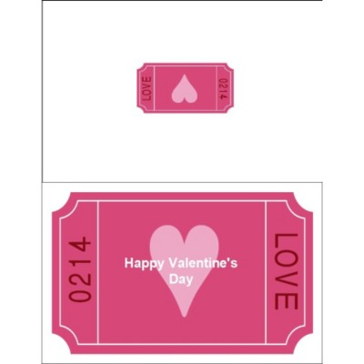 Love Coupon Half-Fold Card - Wide