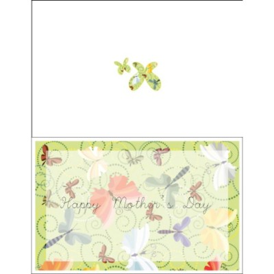 Mother's Day Butterflies Half Fold Card, 1 per sheet