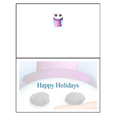 Snowman Face Half-Fold Greeting Card