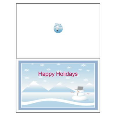 Snowman Half-Fold Greeting Card