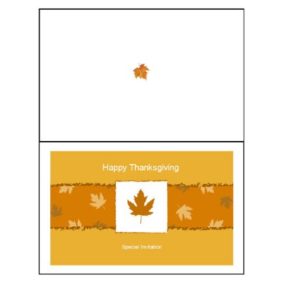 Fall Leaves Half-Fold Greeting Card