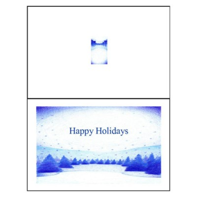 Winter Snow Scene Half-Fold Greeting Card