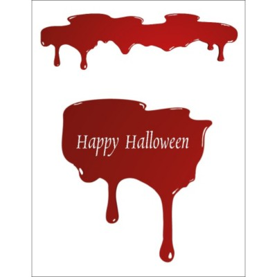 Halloween Dripping Blood T-Shirt Transfer, 1 per sheet