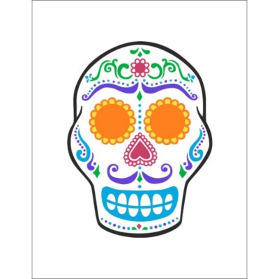 Day of the Dead Skull T-Shirt Transfer , 1 per sheet
