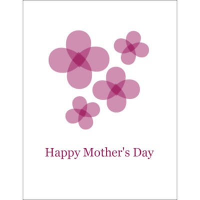 "Mother's Day T-Shirt Transfer - 8 1/2 x 11"" - 1 per sheet - Red Flowers"