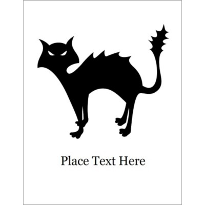 Halloween Cat T-Shirt Transfer, 1 per sheet