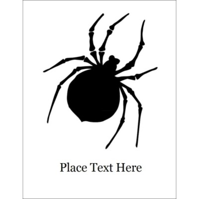 Halloween Spider T-Shirt Transfer, 1 per sheet