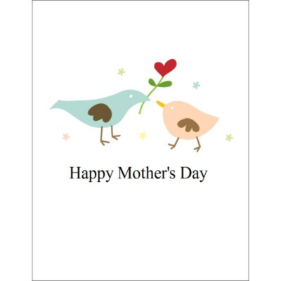 "Mother's Day T-Shirt Transfer - 8 1/2 x 11"" - 1 per sheet - Birds"