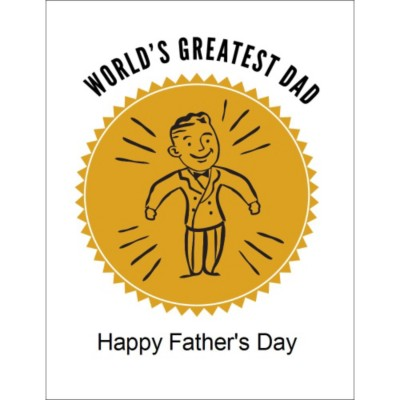 Retro Dad Father's Day T-shirt Transfer, 1 per sheet