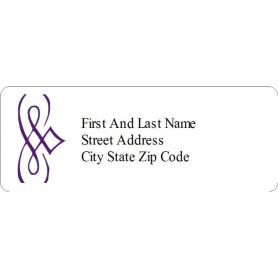 Templates purple design address labels 30 per sheet avery for Avery templates 18160