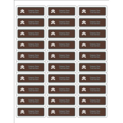 Classic Teal and Brown Address Label, 30 per sheet