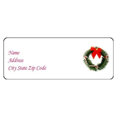... Labels Address Labels Christmas Wreath Address Label, 30 per sheet