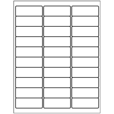 Address Label, 30 per sheet - 1 x 2 5/8""