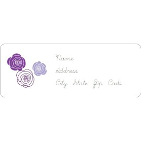 avery template 8660 for microsoft word - templates elegant purple roses address label 30 per