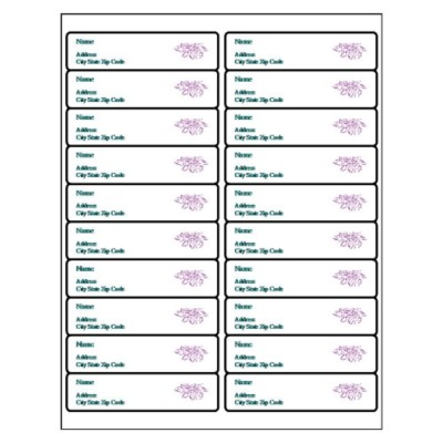 30 labels per page template