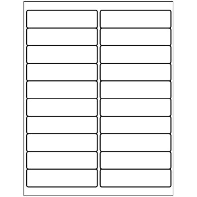 Address Label, 20 per sheet - 1x3