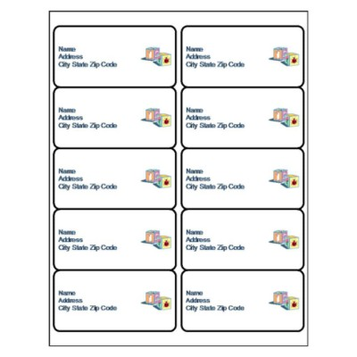 Baby Blocks Shipping Label, 10 per sheet