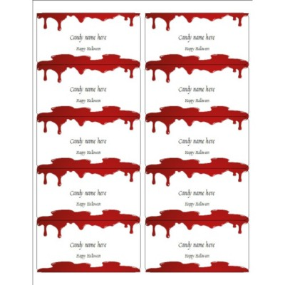 Halloween Dripping Blood Shipping Labels, 10 per sheet