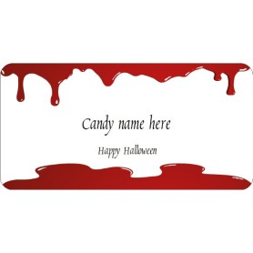 Templates halloween dripping blood shipping labels 10 for Avery template 48863