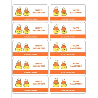 Halloween Candy Corn Shipping Labels , 10 per sheet