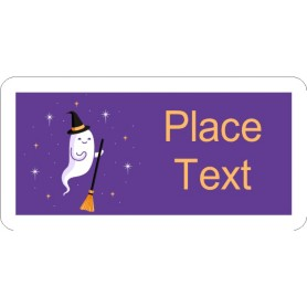 Templates halloween witch ghost shipping labels 10 per for Avery template 48863