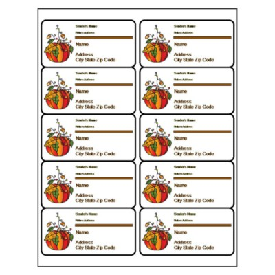 Halloween Shipping Label, 10 per sheet