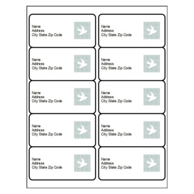 Holiday Peace Dove Shipping Label, 10 per sheet