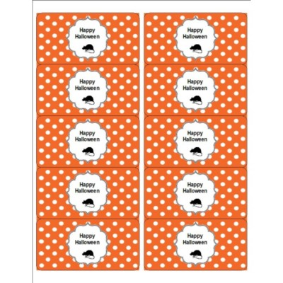 Oh Rats! With Orange Dot Pattern Halloween Shipping Labels, 10 per sheet