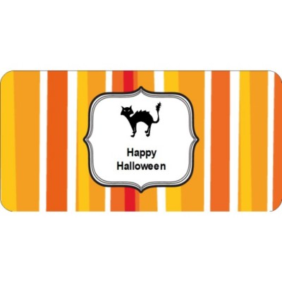 Templates Halloween Cat With Stripe Pattern Shipping