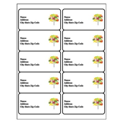 Plants Shipping Label, 10 per sheet