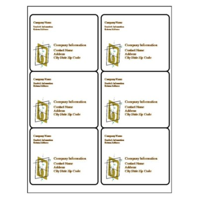 Dental Shipping Label, 6 per sheet