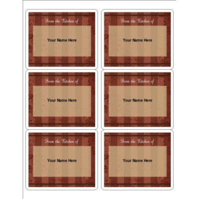 Red Stripe Canning Labels, 10 per sheet