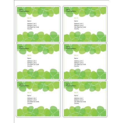 Clover Labels, 6 per sheet