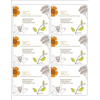 Simple Garden Shipping Labels, 6 per sheet