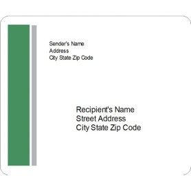 Templates green and grey bar side shipping labels 6 per for Avery 5524 template