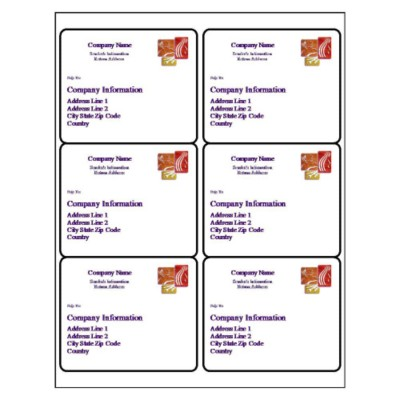 Salon Shipping Label, 6 per sheet