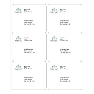Buildings Logo Shipping Labels, 6 per sheet