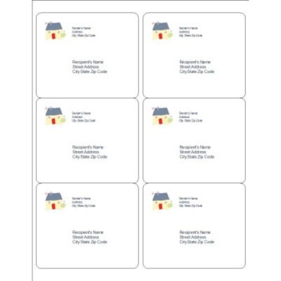 Baby Icons Shipping Labels, 6 per sheet