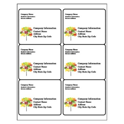 Plants Shipping Label, 6 per sheet